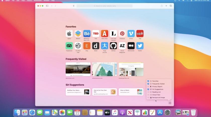 Safari new Apple